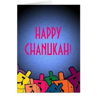 Cartes Chanukah heureux avec des dreidles