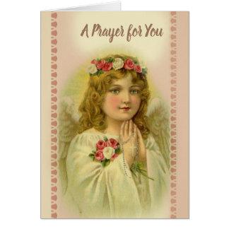 Cartes Chapelet de prière de bel ange vintage