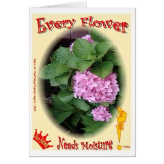 Cartes Chaque fleur a besoin d'humidité !