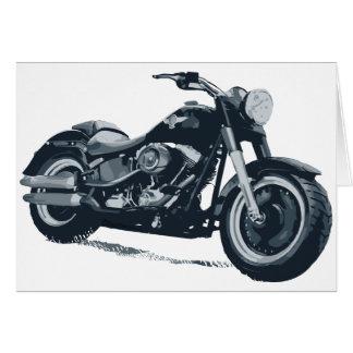 Cartes Chaque garçon aime une grosse moto américaine