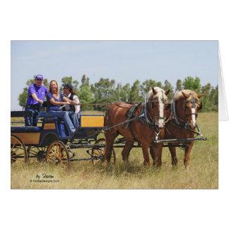 Cartes Chariot belge de cheval de trait