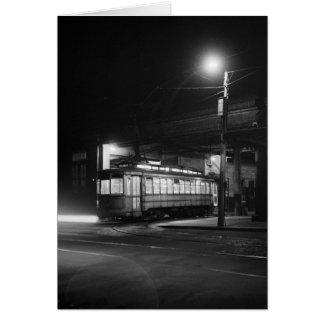 Cartes Chariot la nuit Night, 1943