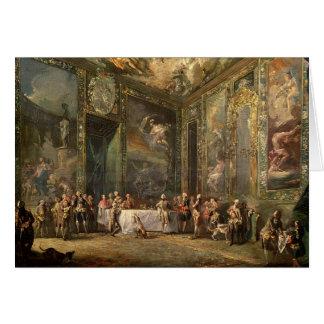 Cartes Charles III de Borbon, déjeunant avant le sien