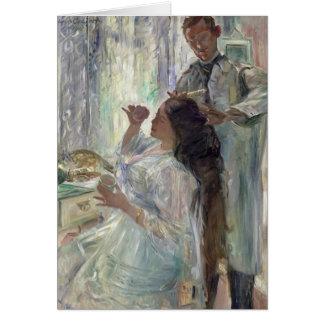Cartes Charlotte Corinthe à sa coiffeuse, 1911