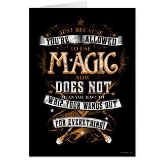 Cartes Charme | de Harry Potter juste puisqu'on vous
