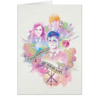 Cartes Charme | Harry, Hermione, et Ron Waterc de Harry