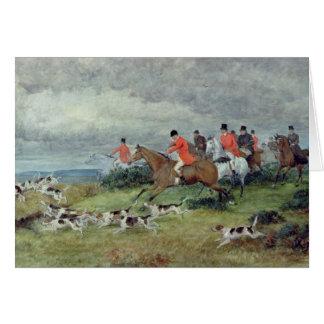 Cartes Chasse de Fox dans Surrey, 19ème siècle