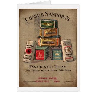 Cartes Chasse et thé de Sanborn