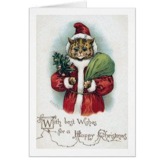 Cartes Chat de Noël, Louis Wain