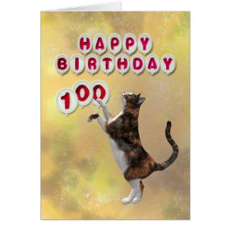 Cartes Chat espiègle et ballons de joyeux anniversaire