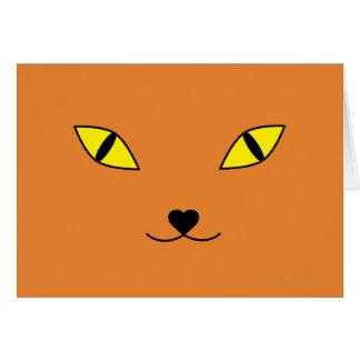 Cartes Chat heureux de visage