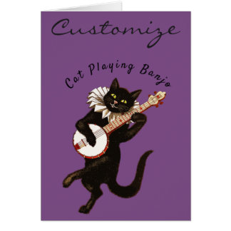 Cartes Chat jouant le banjo Thunder_Cove