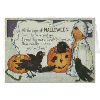Cartes Chat noir de citrouille de Jack-o'-lantern de