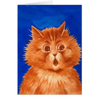 Cartes Chat orange étonné par Wain de Louis