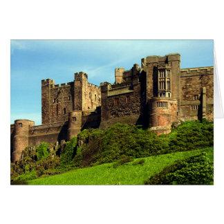 Cartes Château de Bamburgh, le Northumberland, Angleterre