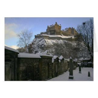 Cartes Château d'Edimbourg dans la neige