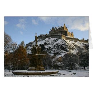 Cartes Château d'Edimbourg en hiver