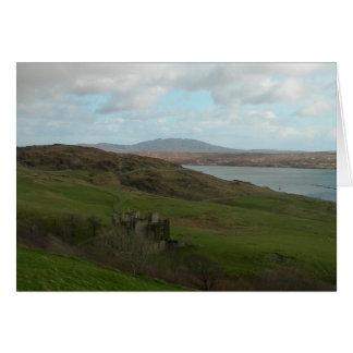 Cartes Château irlandais dans Connemara (blanc)