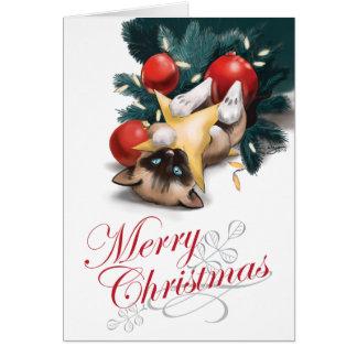 Cartes Chaton de Joyeux Noël