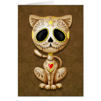 Cartes Chaton de sucre de zombi de Brown