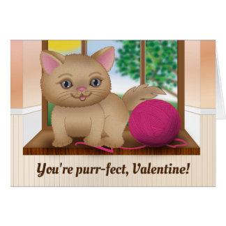 Cartes Chaton Valentine de Ronronnement-fect