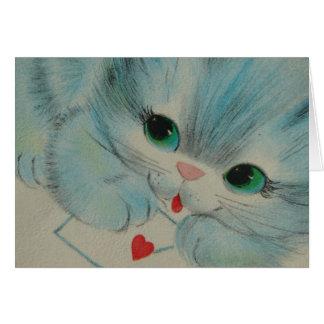 Cartes Chaton vintage adorable de Valentine