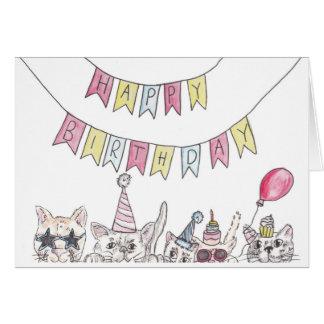 Cartes Chats d'anniversaire