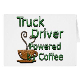 Cartes Chauffeur de camion actionné par le café