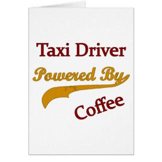 Cartes Chauffeur de taxi actionné par le café