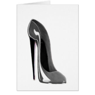 Cartes Chaussure stylet grise