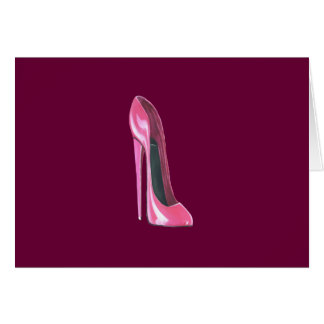 Cartes Chaussure stylet rose