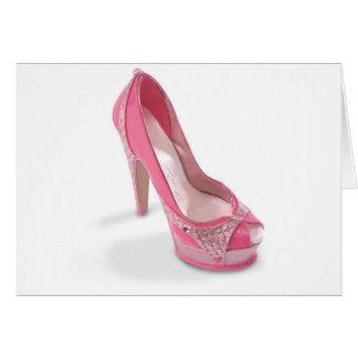 Cartes chaussures légalement roses
