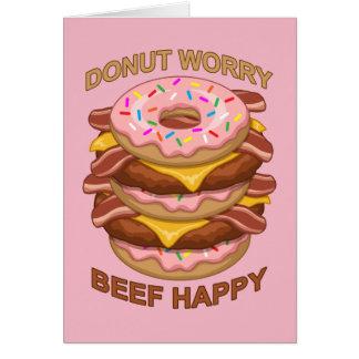Cartes Cheeseburger heureux de lard de beignet de boeuf