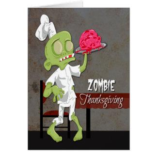 Cartes Chef de zombi avec le cerveau préparé pour le