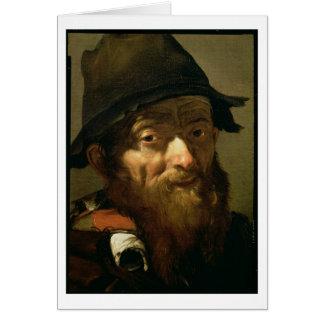 Cartes Chef d'un vieil homme, détail de portrait d'un