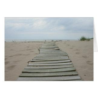 Cartes Chemin en bois de planche