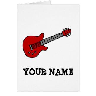 Cartes Chemise customisée de guitare pour des garçons ou