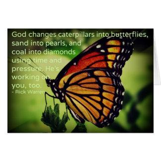 Cartes Chenilles dans des papillons
