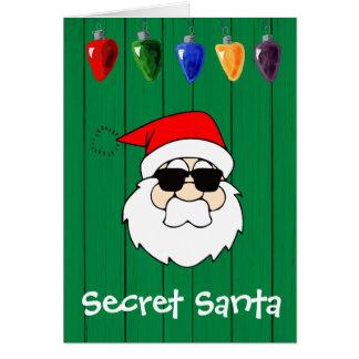 Cartes Chèque-cadeau secret de Père Noël