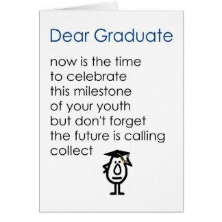 Cartes Cher diplômé - un poème drôle d'obtention du