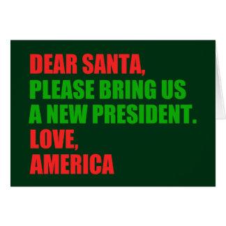 Cartes Cher Père Noël attaquent l'atout pour Noël