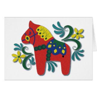 Cartes Cheval coloré de Dala de Suédois - masquez à