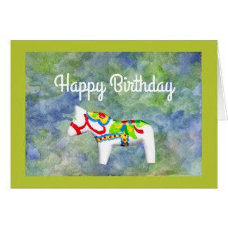 Cartes Cheval de Dala d'anniversaire