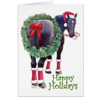 Cartes Cheval de trait de Percheron de Noël