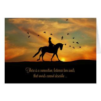 Cartes Cheval et cavalier spirituels de dressage de