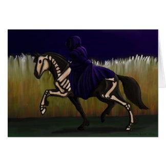 Cartes Cheval et cavalier squelettiques de Halloween