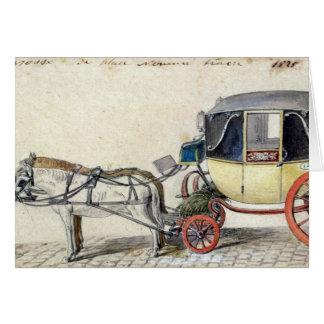 Cartes Cheval et chariot, 1825