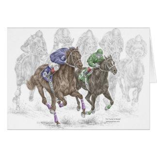 Cartes Chevaux de course galopants