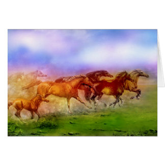 CARTES CHEVAUX SAUVAGES