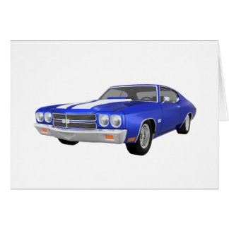 Cartes Chevelle 1970 solides solubles : Finition bleue :